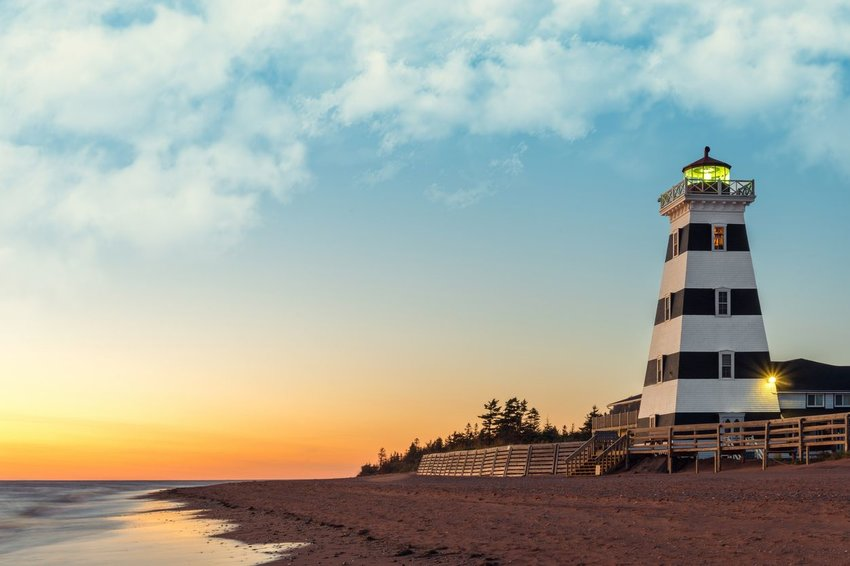 Lighthouse on Prince Edward Island in Canada