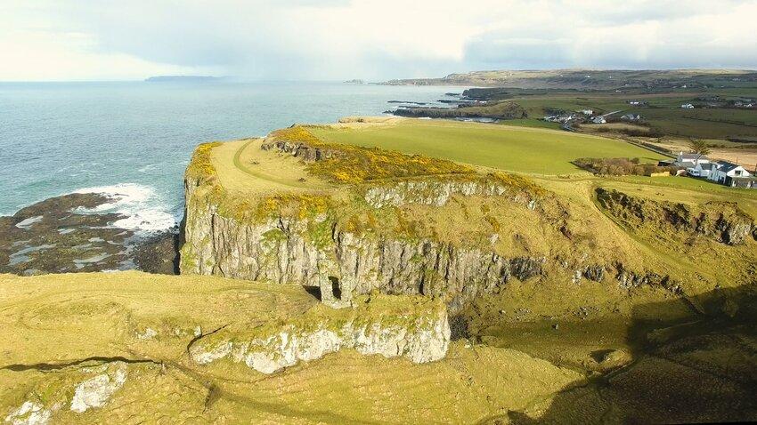 Dramatic seaside cliffs of Wexford, Ireland