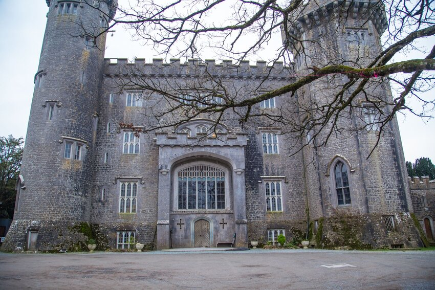 Front facade of Charleville Castle