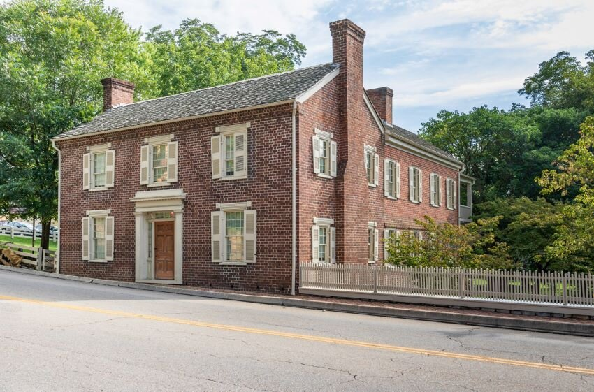 Brick house at Andrew Johnson National Historic Site.