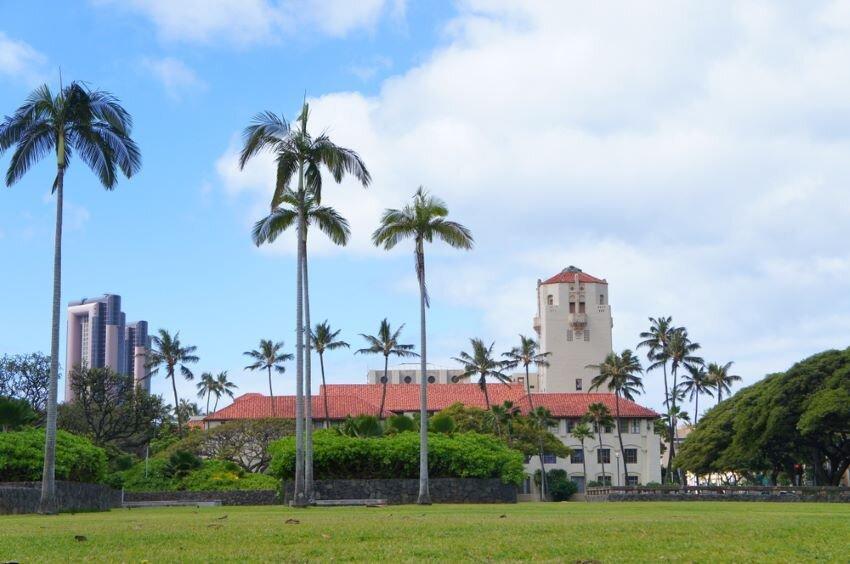 The cityscape of Honolulu in Hawaii.