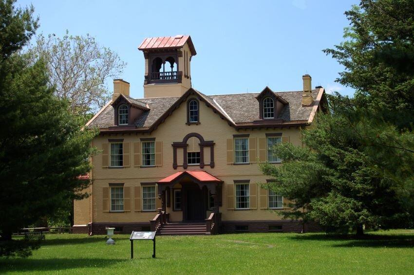 Lindenwald, home of President Martin Van Buren, in Kinderhook, NY.