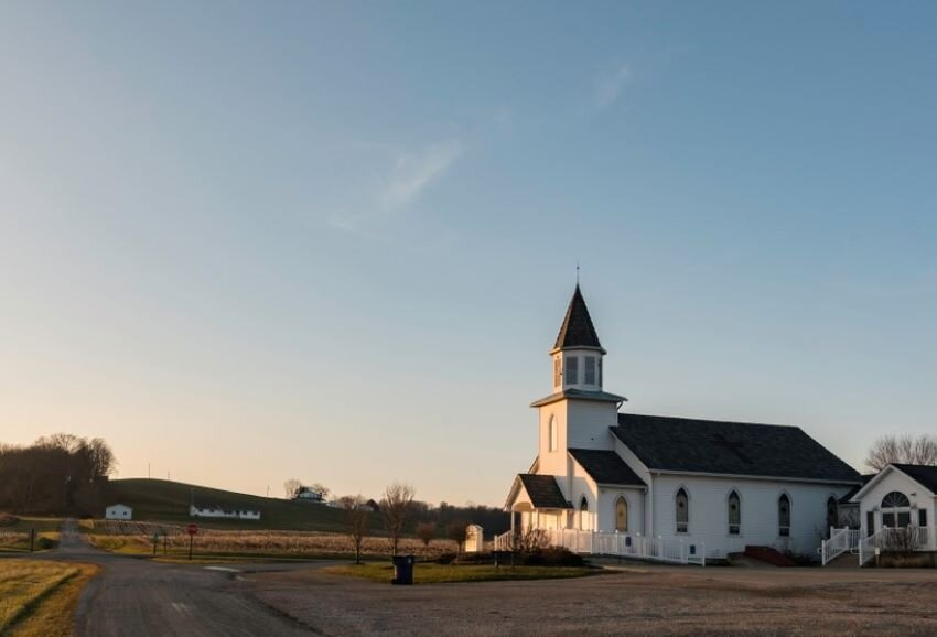 Hopewell United Methodist Church in rural Perry County, Ohio.