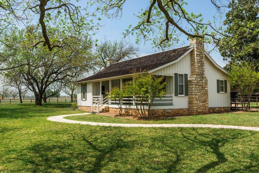 Childhood home of Lyndon B. Johnson near Johnson City, Texas