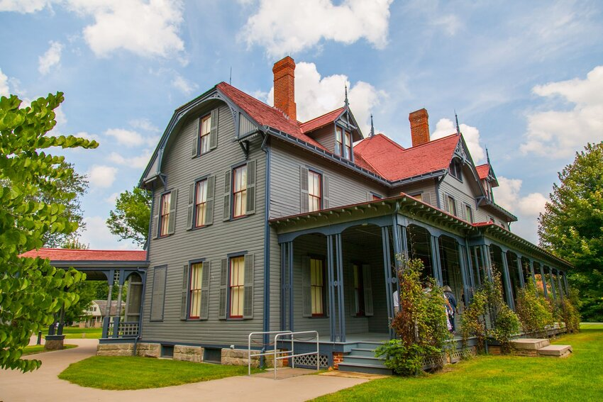 Historic home at James A. Garfield National Historic Site