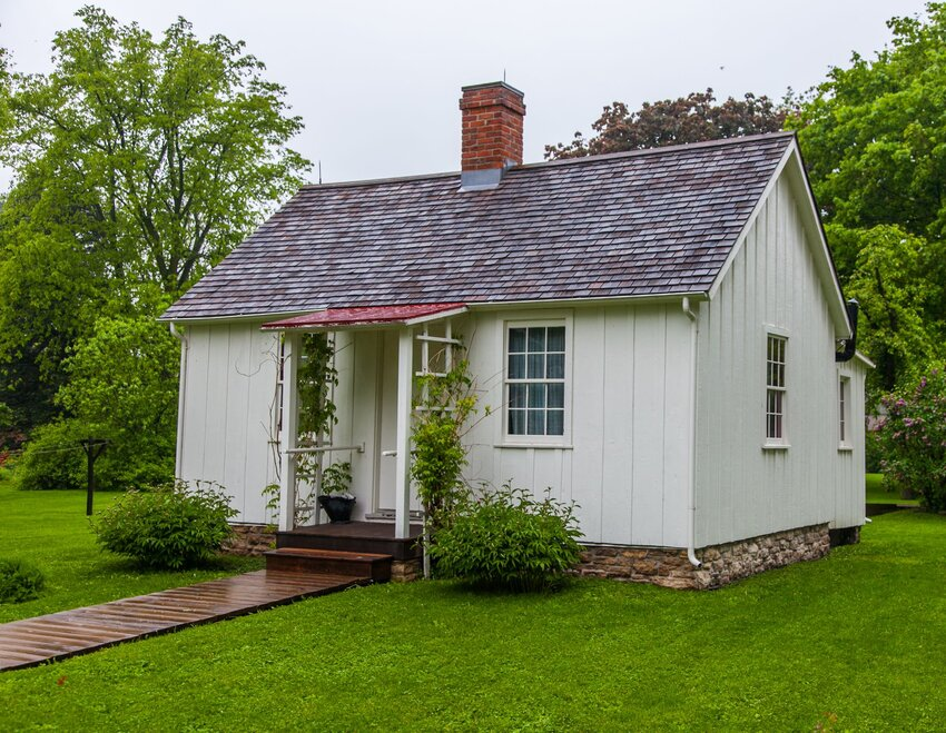 Small white home at Herbert Hoover National Historic Site