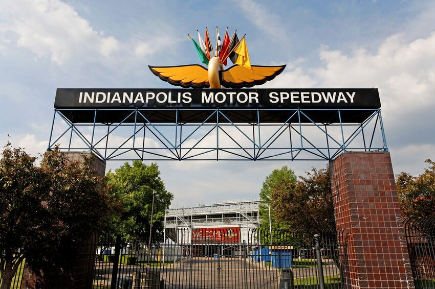 Entrance to the Indianapolis Motor Speedway located in Indianapolis