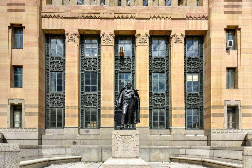 Statue of Millard Fillmore outside of Buffalo City Hall