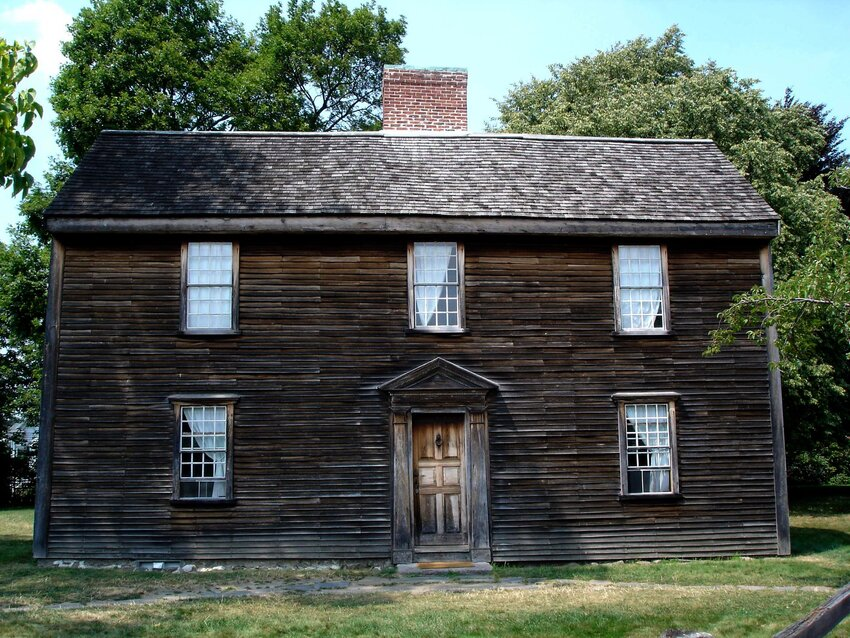Front of two-story wooden home at Adams National Historical Park