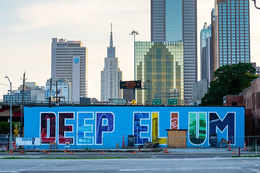 Deep Ellum Skyline and Wall Mural