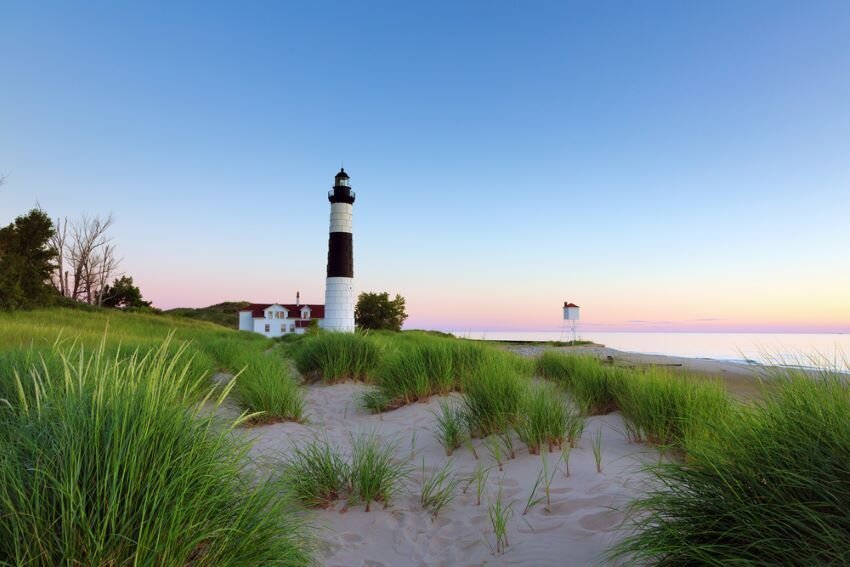 Big Sable Point Lighthouse in Ludington State Park, Michigan.