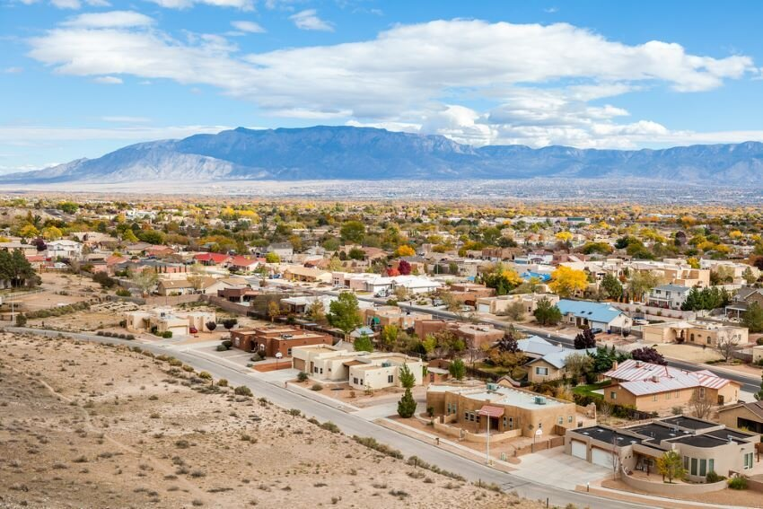 Albuquerque residential suburbs, New Mexico.