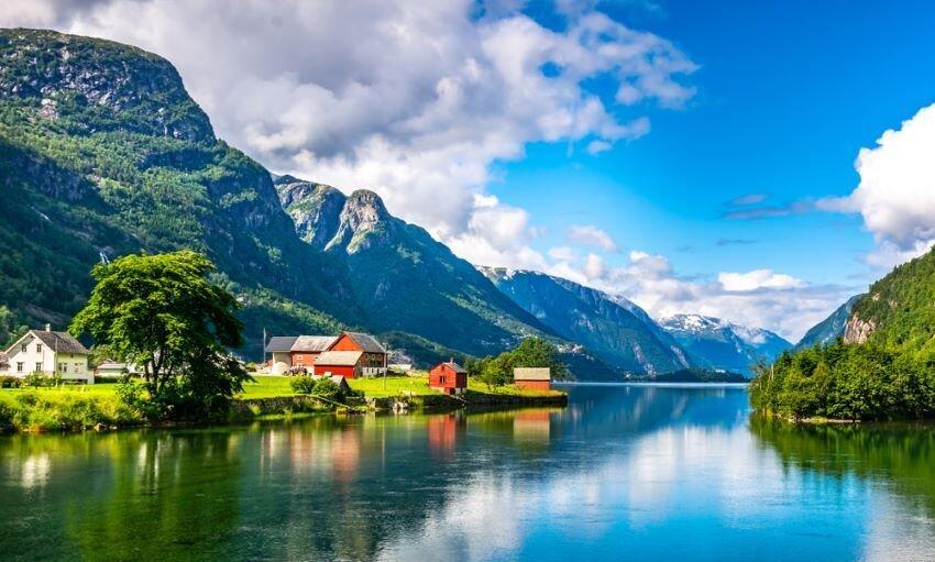 Scandinavian Mountains in Norway.