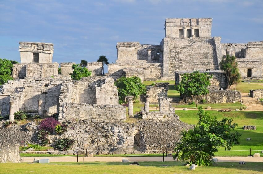 Tulum, the site of a pre-Columbian Mayan walled city.