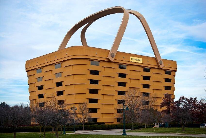 The Basket Shaped Longaberger Company Home Office Newark, Ohio.