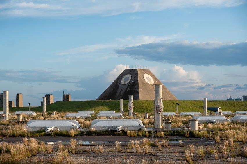 The radar pyramid and Spartan missile fields, North Dakota.