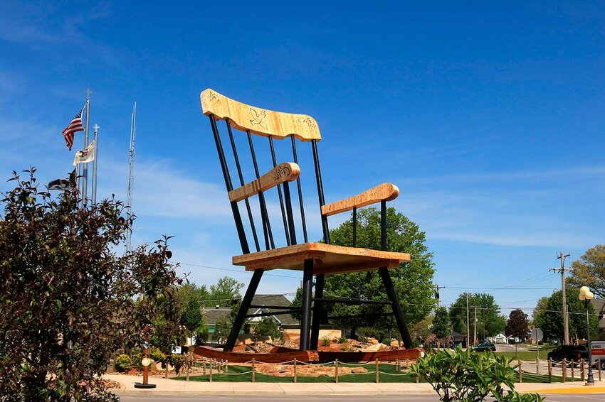 World's largest rocking chair on display in downtown Casey Illinois