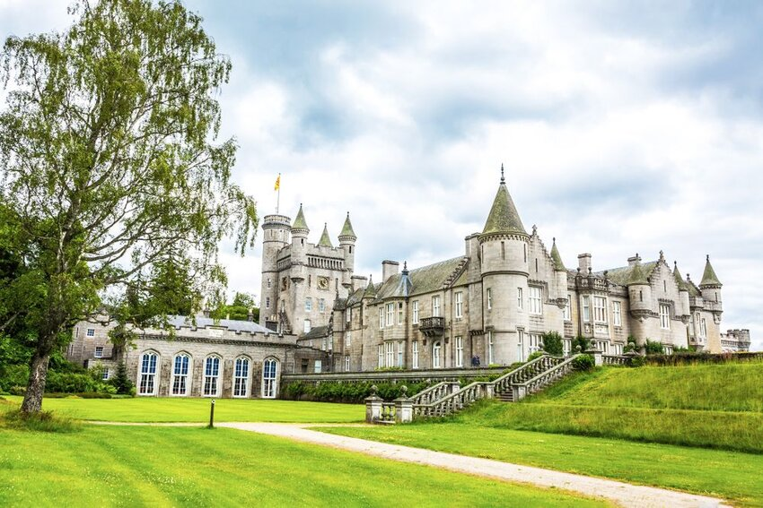 View of Balmoral Castle in the UK.