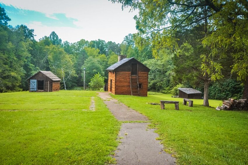 Kitchen Cabins at Booker T. Washington National Monument in Virgina.