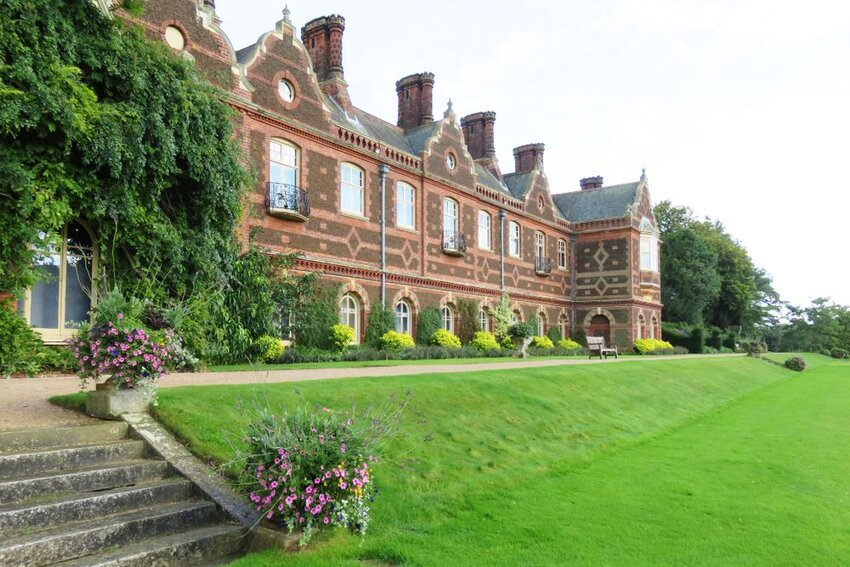 The English royal family's private residence at Sandringham Palace, in Norfolk, England.