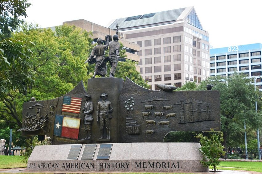 Texas African American History Memorial at the Texas State Capitol in Austin, Texas.