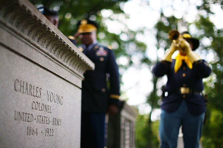 Charles Young's Burial at Arlington Cemetery.