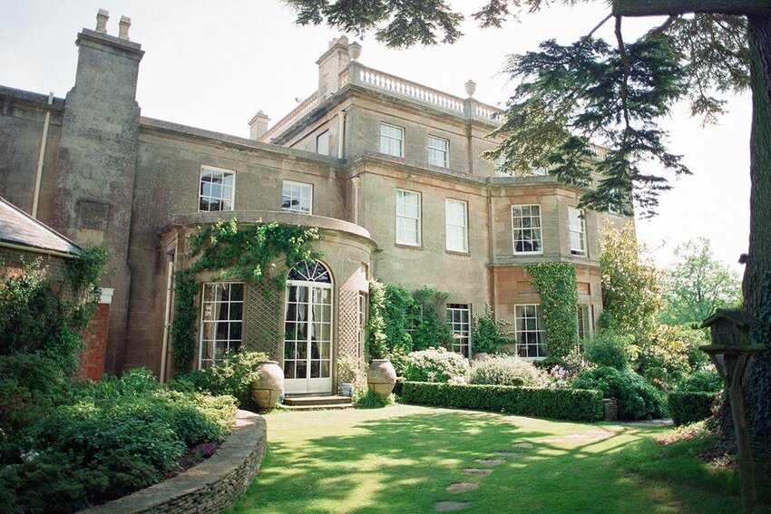 Highgrove House on a sunny day in 1994, in Doughton, Gloucestershire