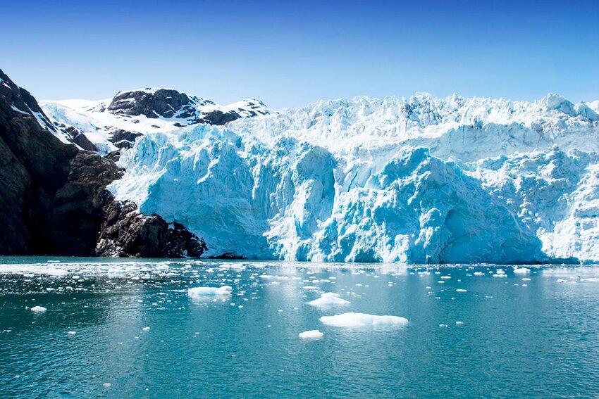 Hubbard Glacier in Seward, Alaska.