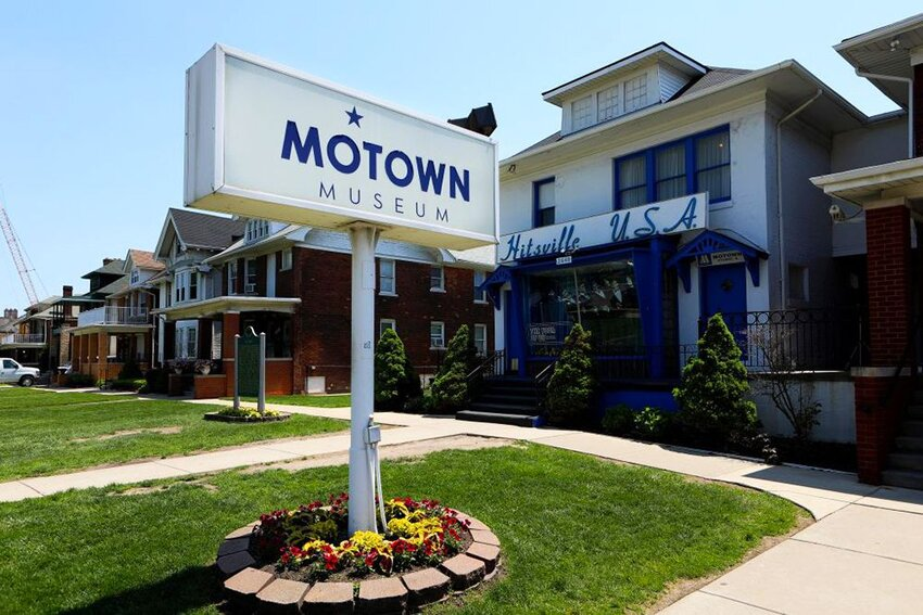 The original home of Motown Records in Detroit, Michigan.