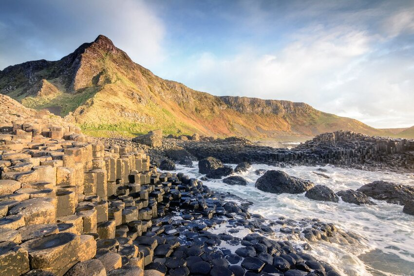 Amazing view of Giants Causeway in northern Ireland.